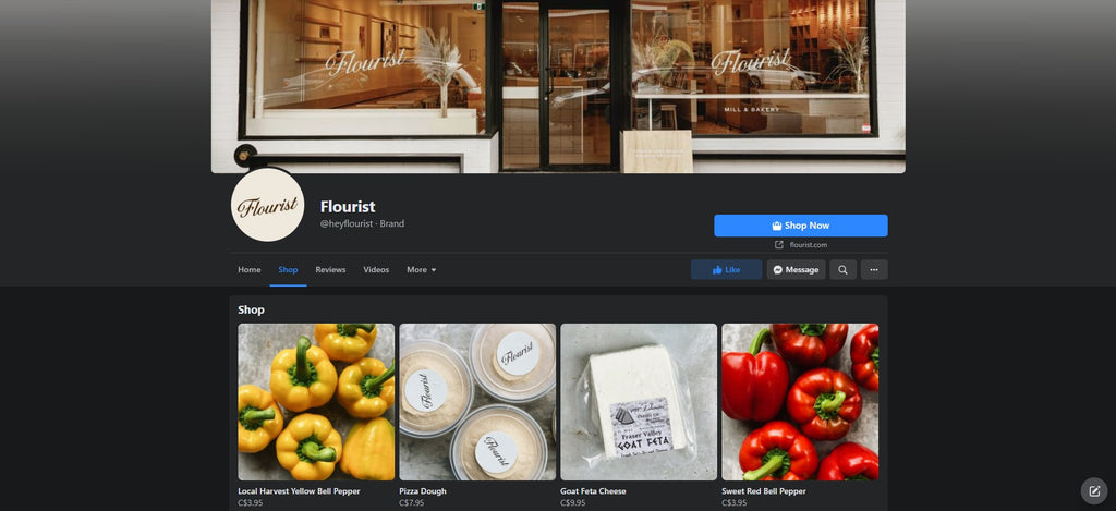 Flourist Shopify Facebook Store examples