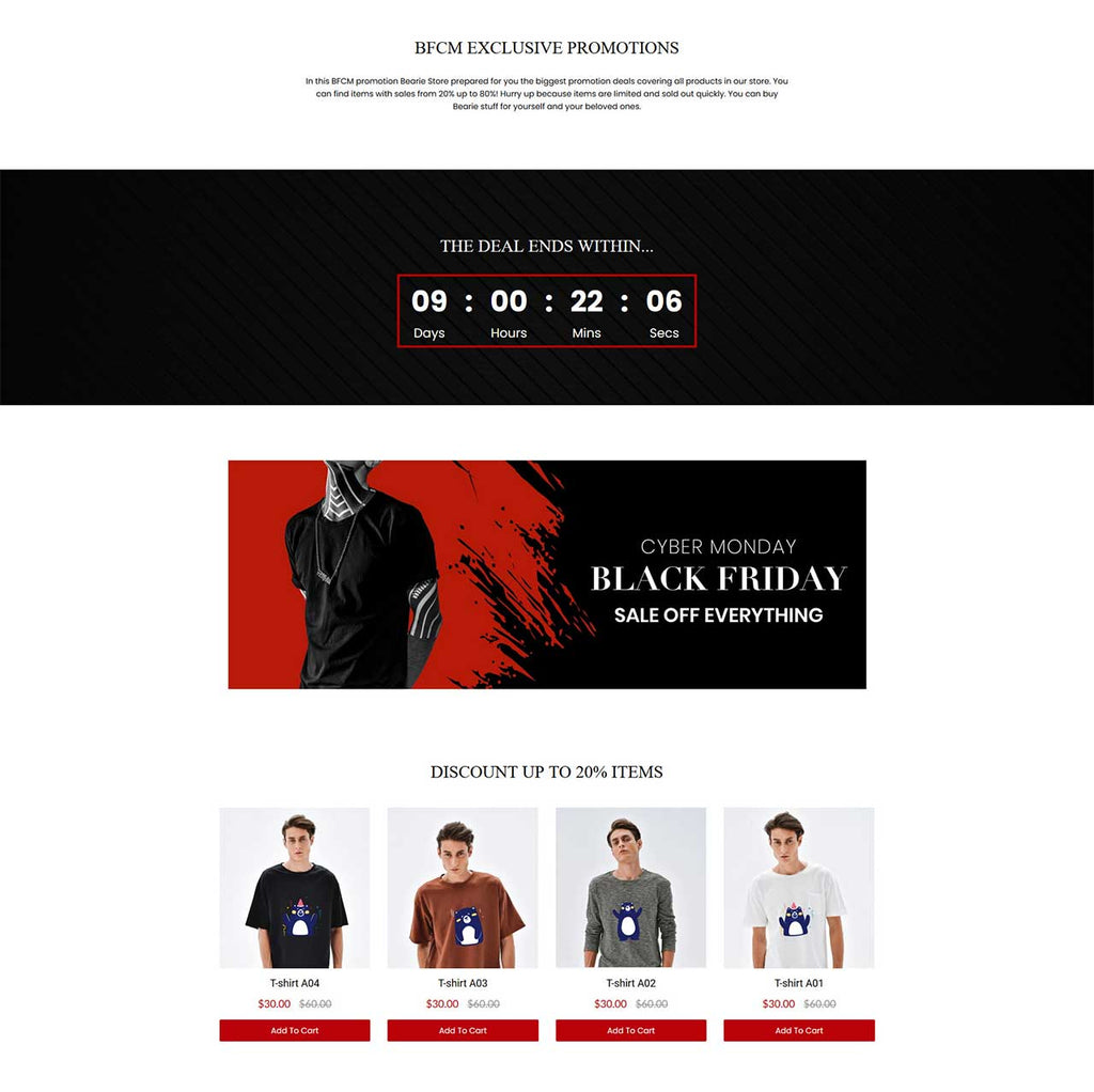 Paid advertising landing page examples for fashion store