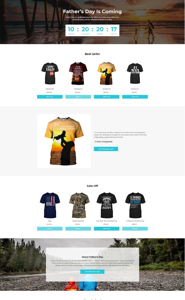 Father's Day Collection Page by Shopify