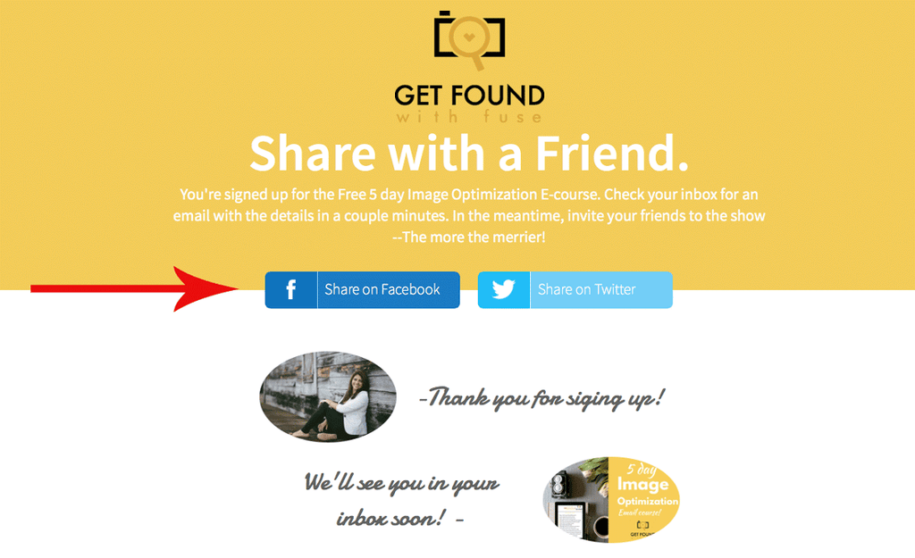 add social sharing to Shopify thank you page