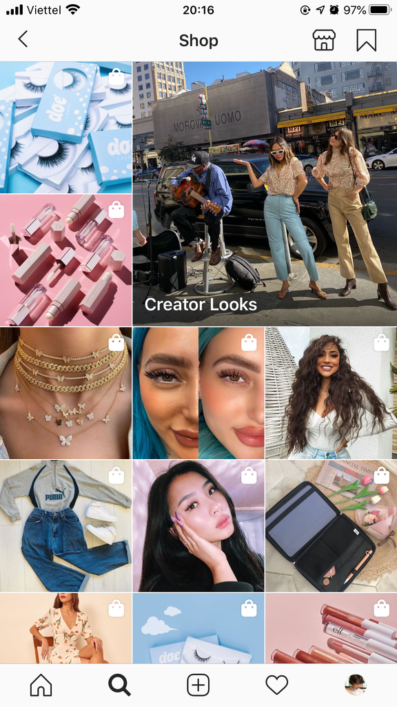 Instagram Shop Search and Explore