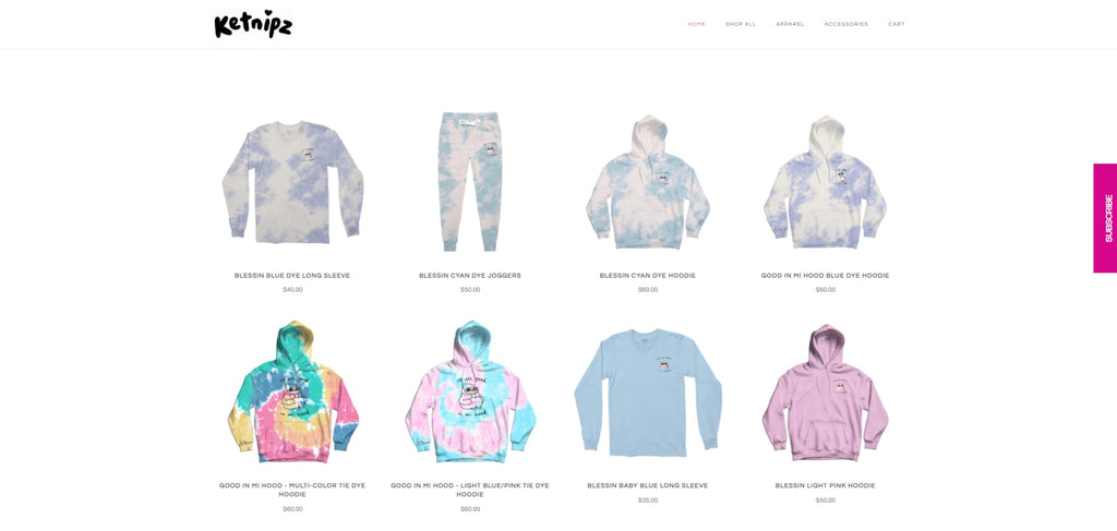 Ketnipz Shopify Facebook store examples