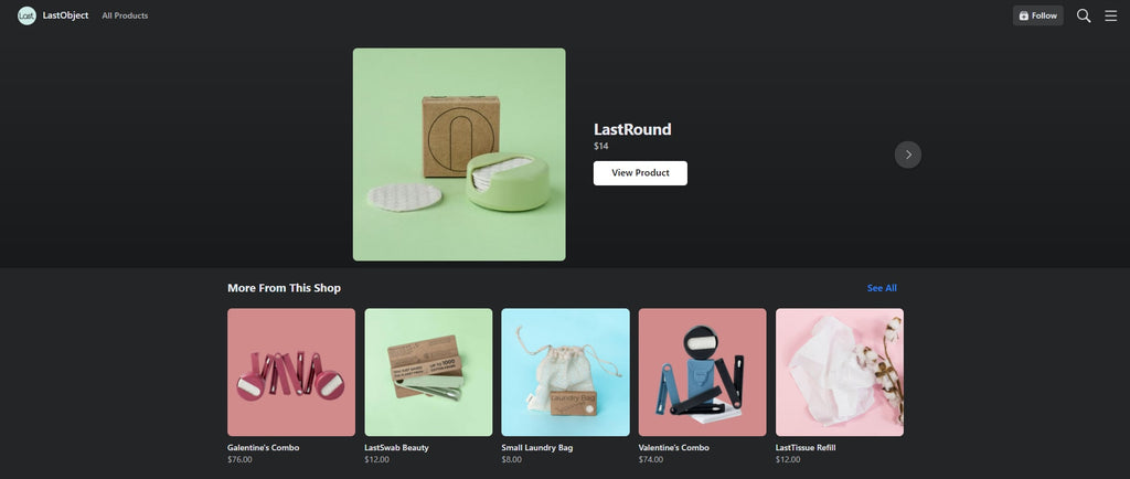 LastObject Shopify facebook store examples