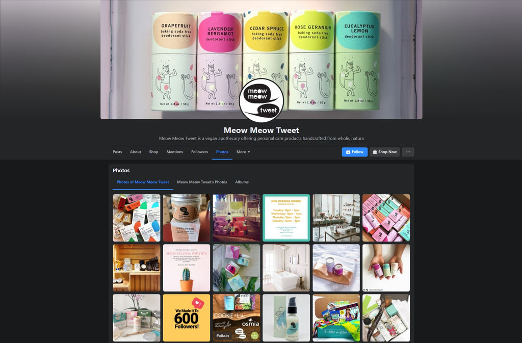 Meow Meow Tweet Shopify facebook store examples