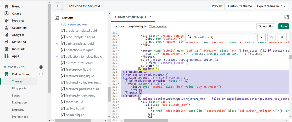 Finish Wrapping the Product Form Code