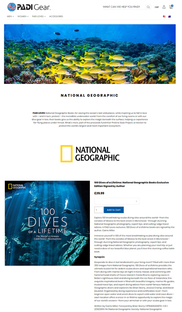 PADI Loves National Geographic