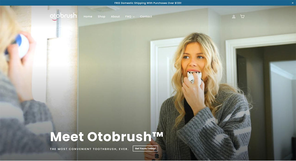 A Collection Page with Full Banner of Otobrush