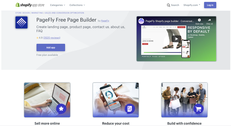 Pagefly Shopify page builder app