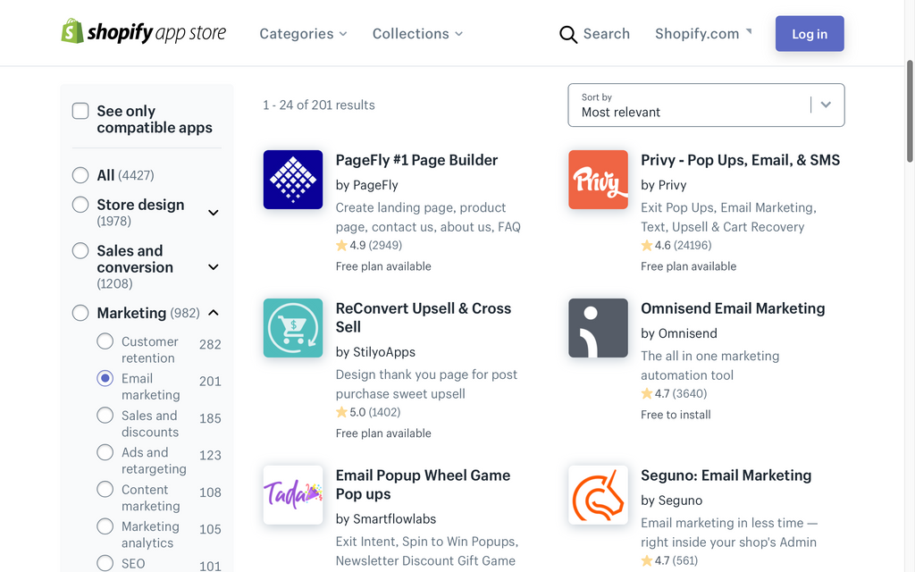 PageFly Top #1 in email marketing