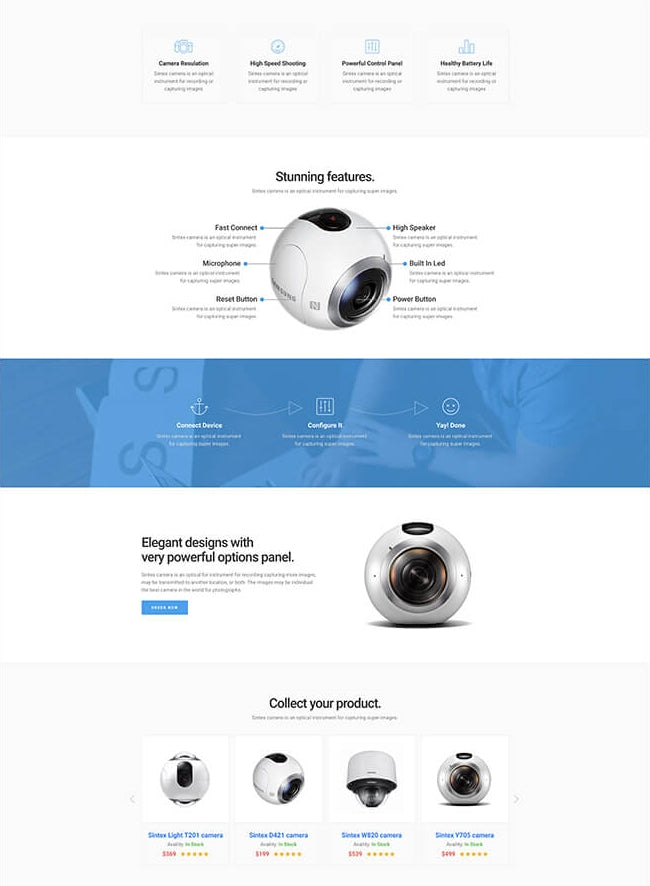 sintex shopify product page pagefly