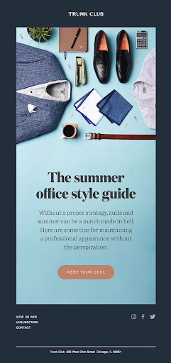 Trunk Club email marketing