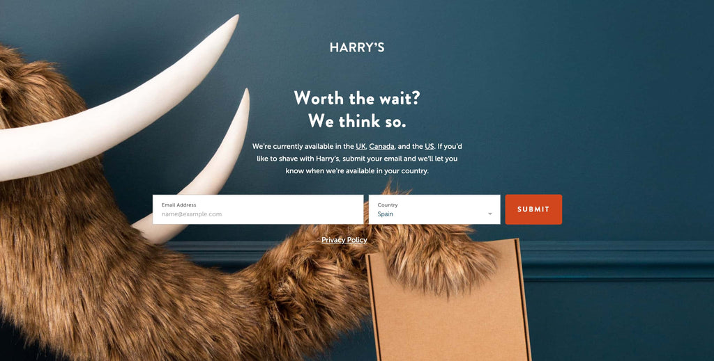 Splash page from Harry's