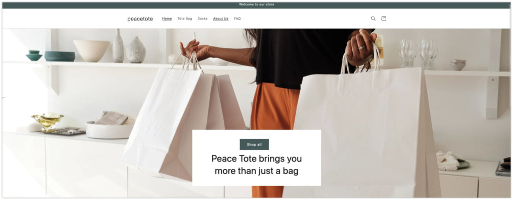 Add hero banners with clear CTAs in Shopify Dawn Theme