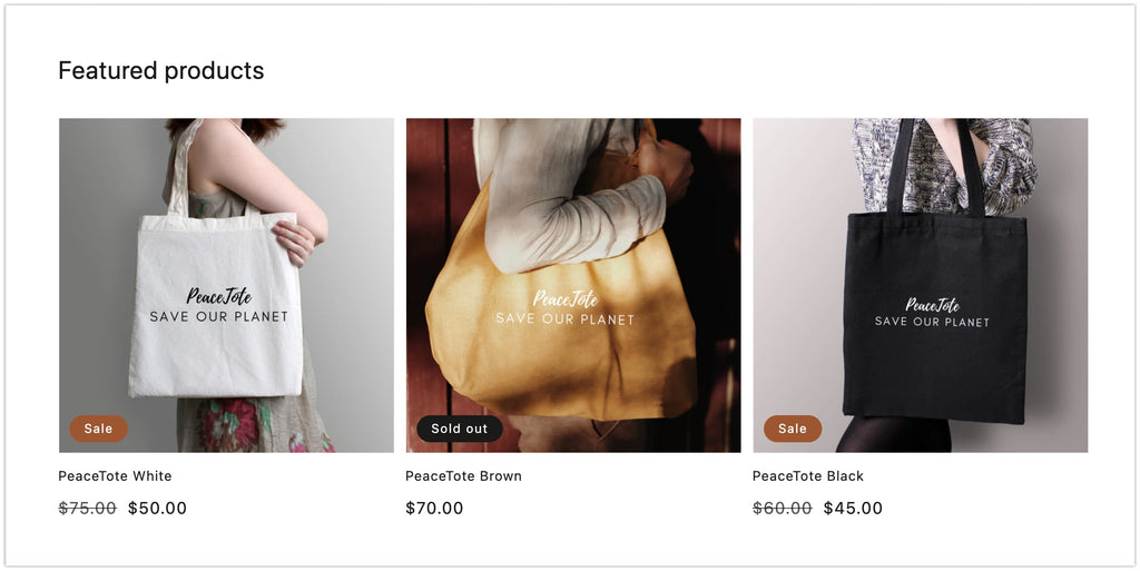Feature your products on the homepage