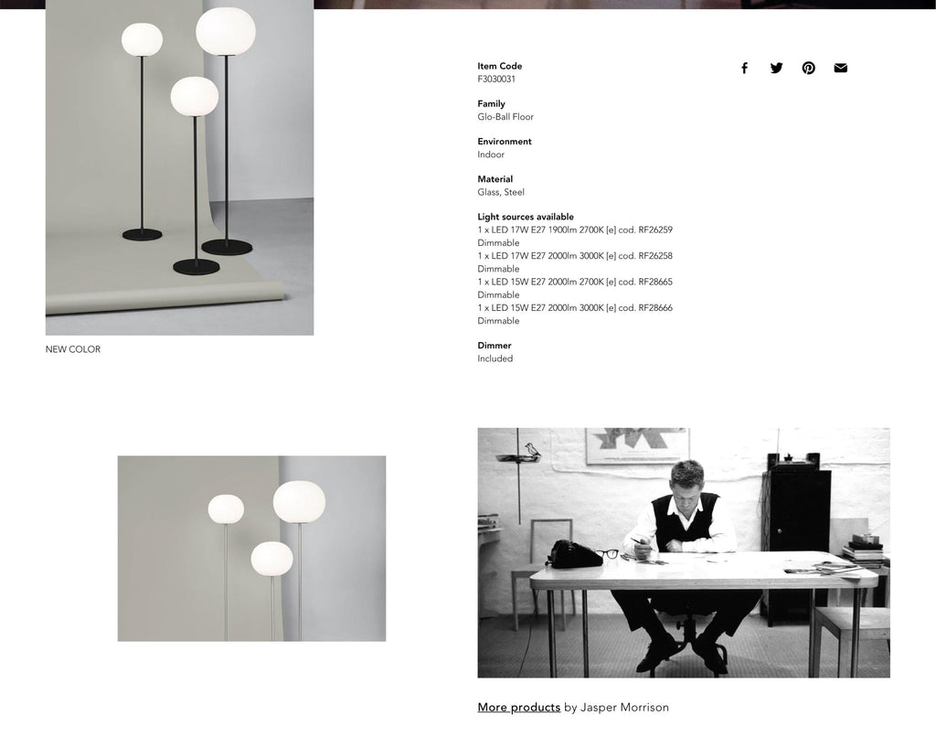 Flos product page design