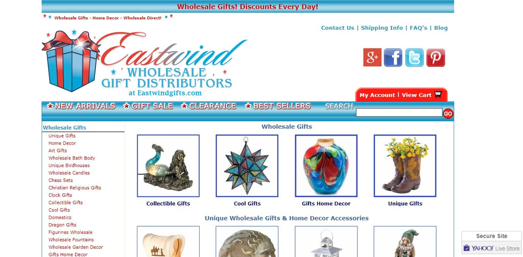 Eastwind home Decor wholesale