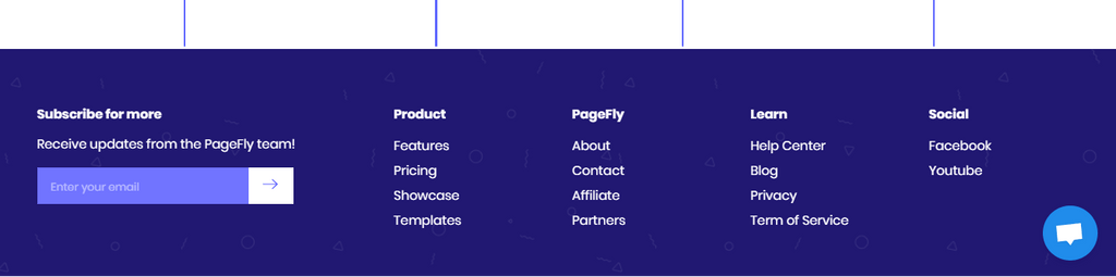 PageFly footer navigation