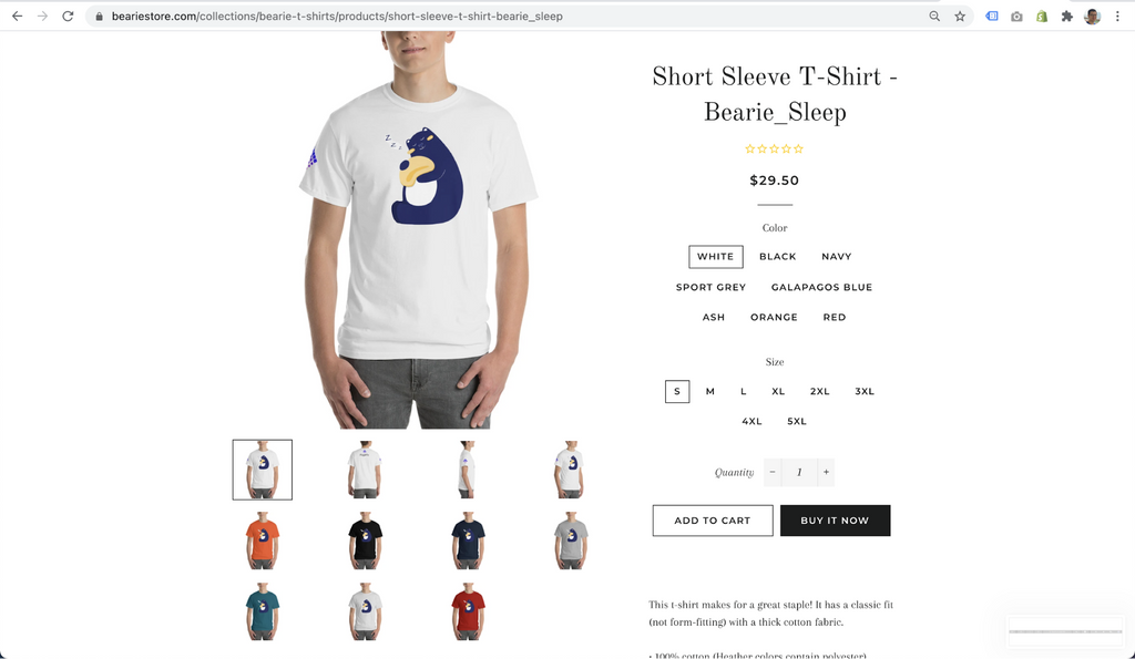 T-shirts for print on demand store