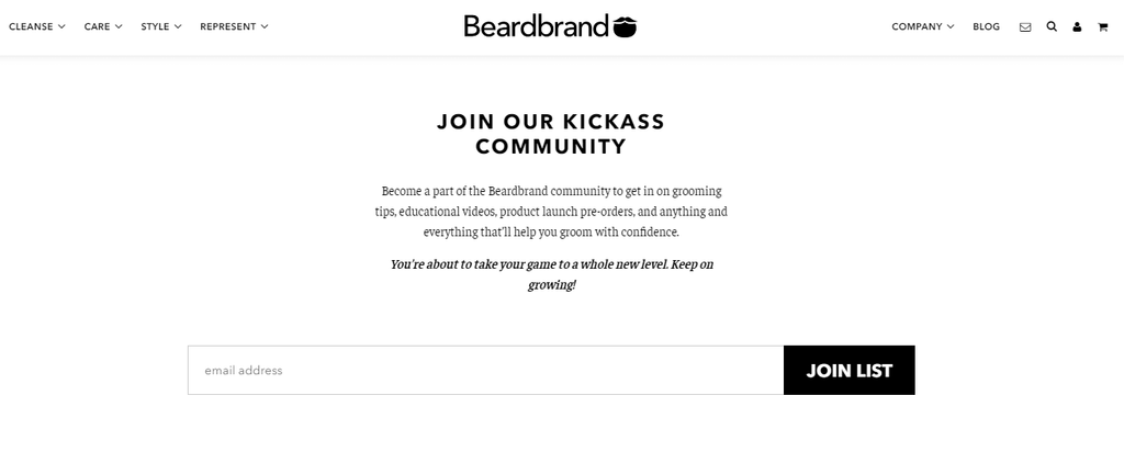beardbrand email opt in