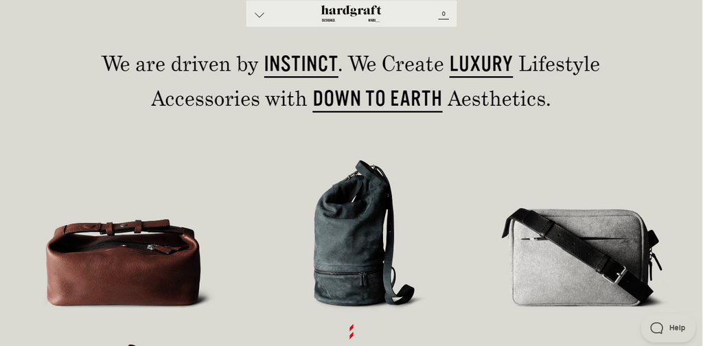 Hardgraft homepage