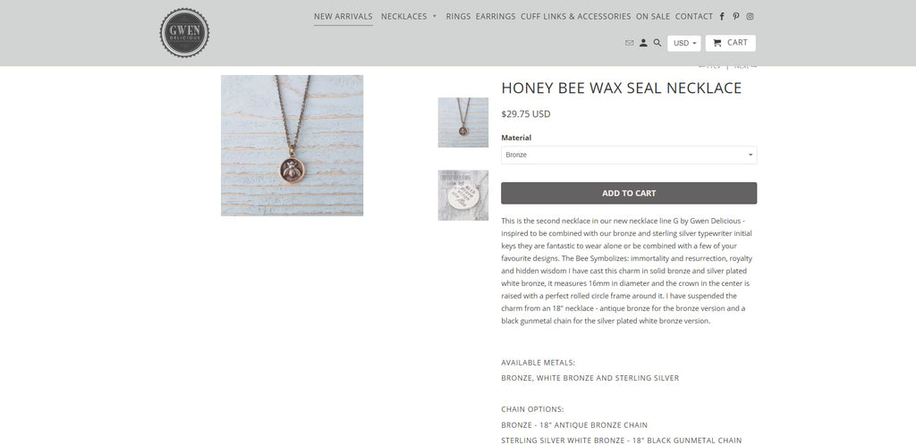 Gwen Delicious Shopify Jewelry Store