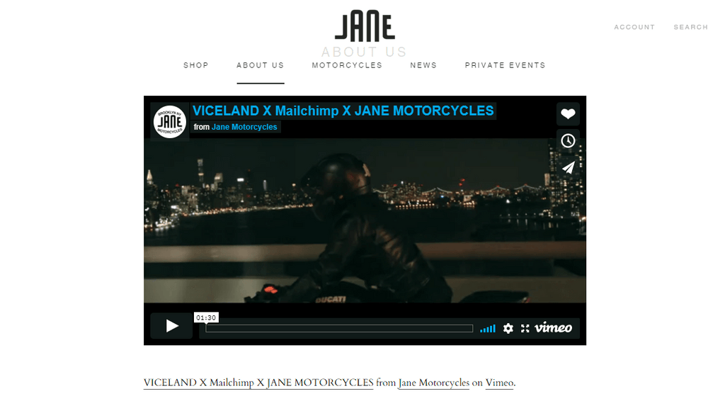 Jane Motorcycles about us