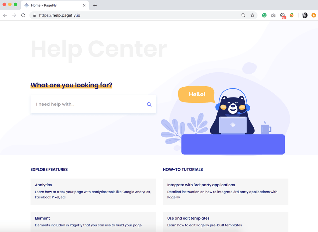 PageFly Shopify App Help center
