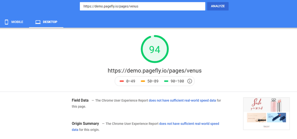 PageFly page speed