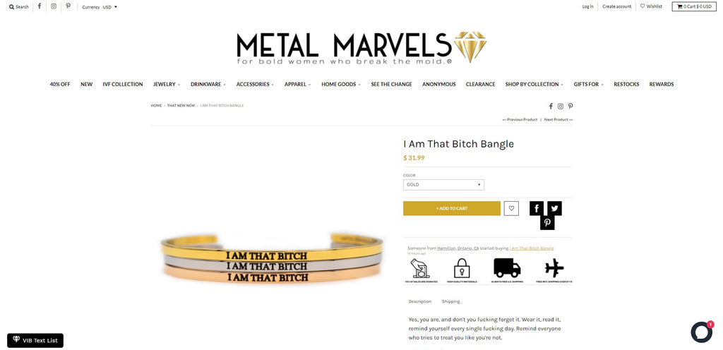 Metal Marvels Shopify Jewelry Store