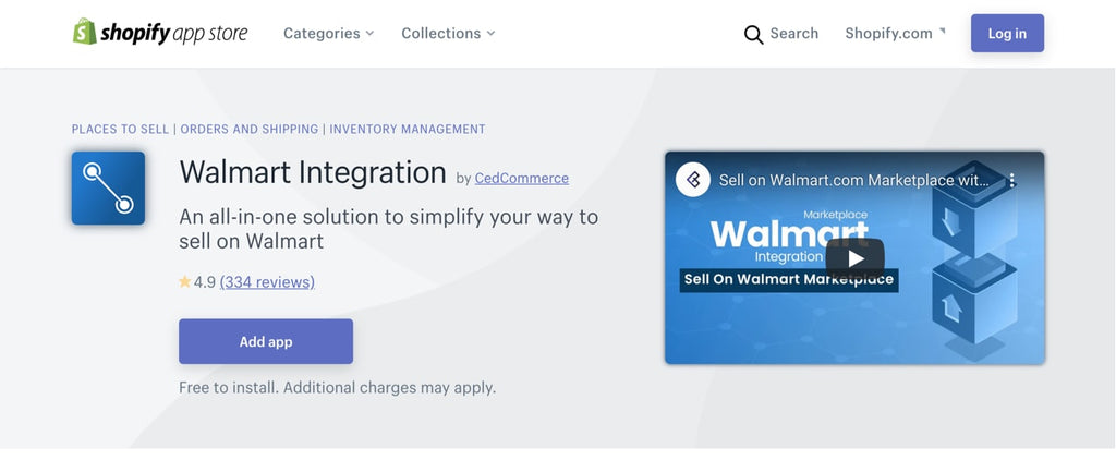 Walmart Product integration