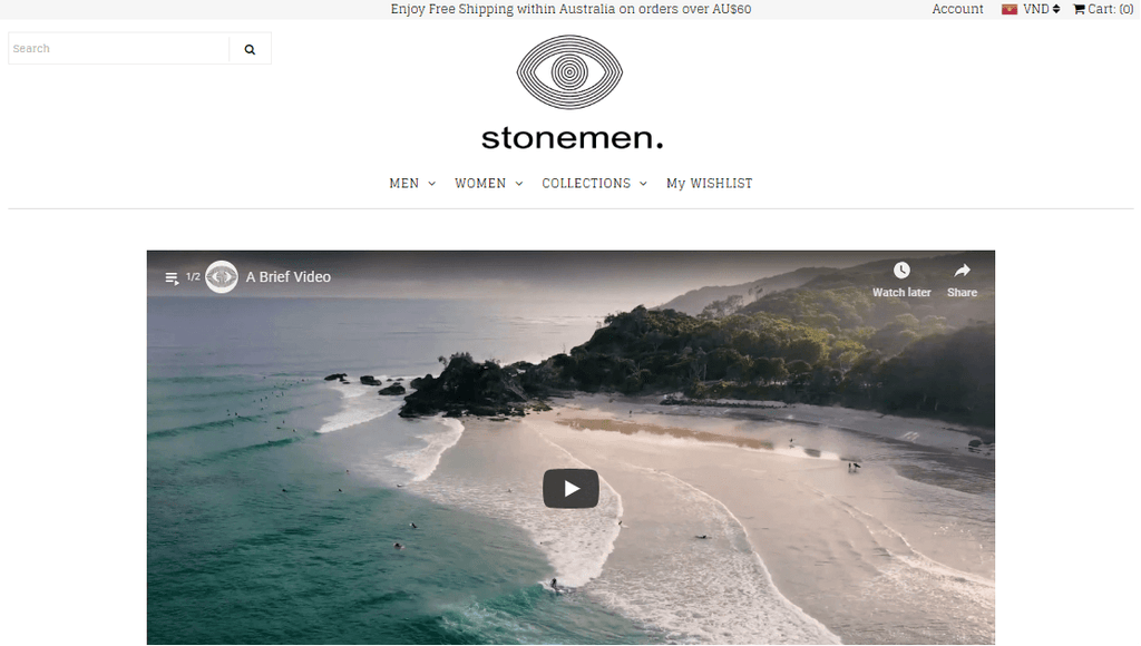 Stonemen eCommerce website
