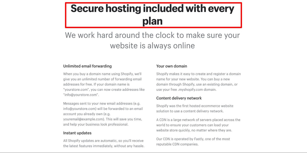 Shopify hosting and domain