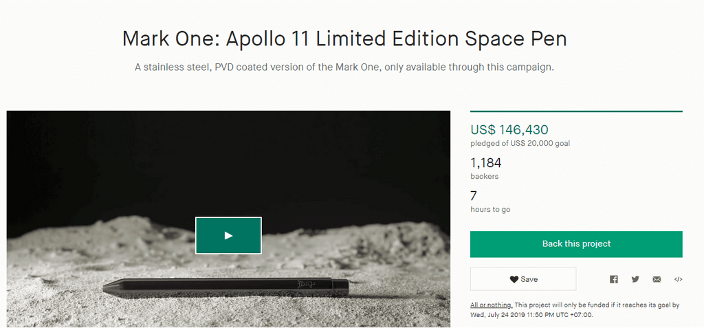 Apollo Mark one kickstarter