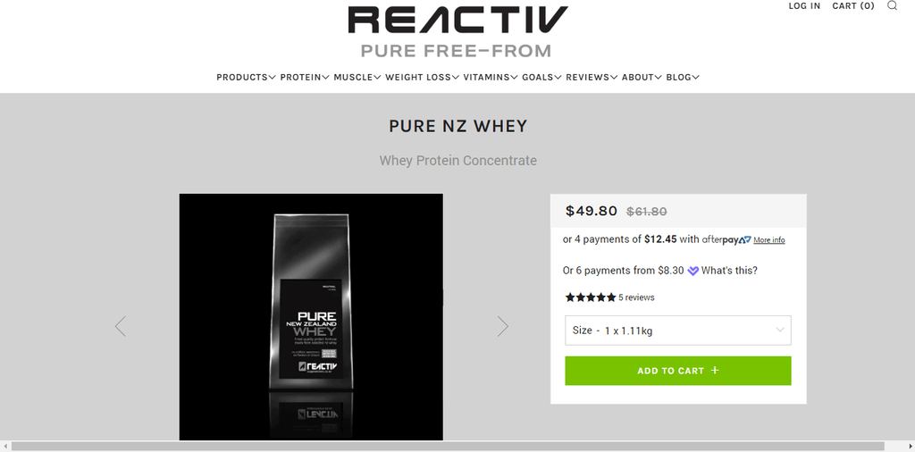 Reactiv Supplements Store review