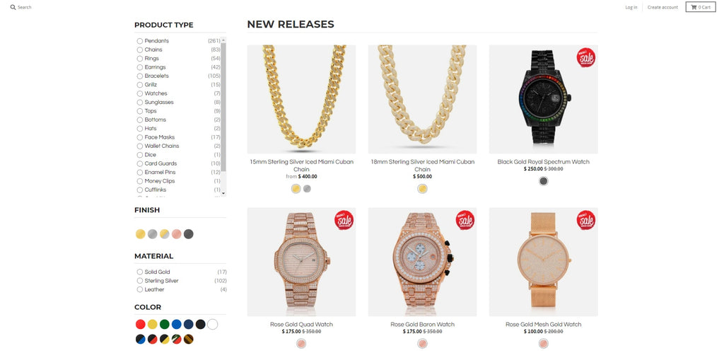 King Ice Shopify Jewelry Store