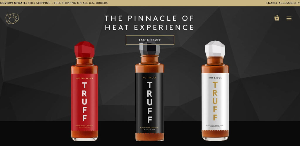 Truff Hot Sauce home page