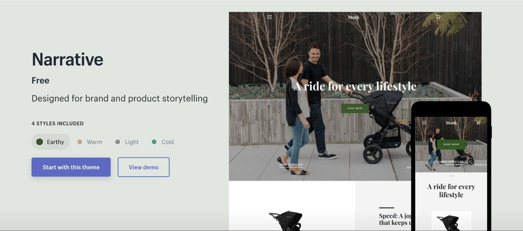 shopify narrative theme
