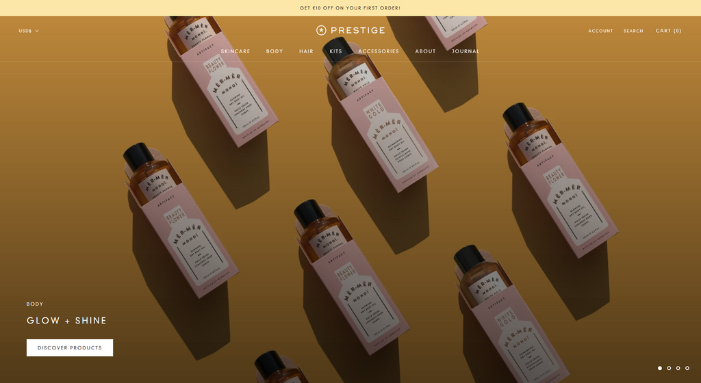 The Vogue Style of Shopify Prestige theme