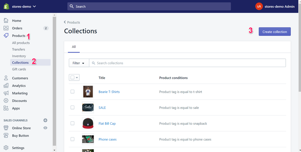 Shopify Collection Page