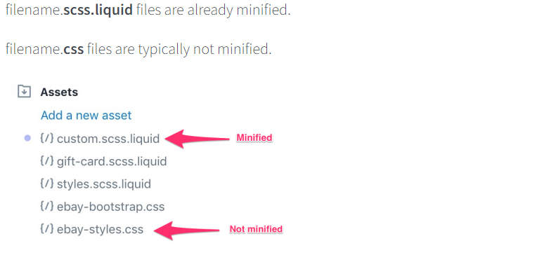 CSS minification in Shopify