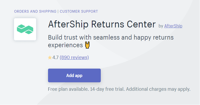 Aftership returns