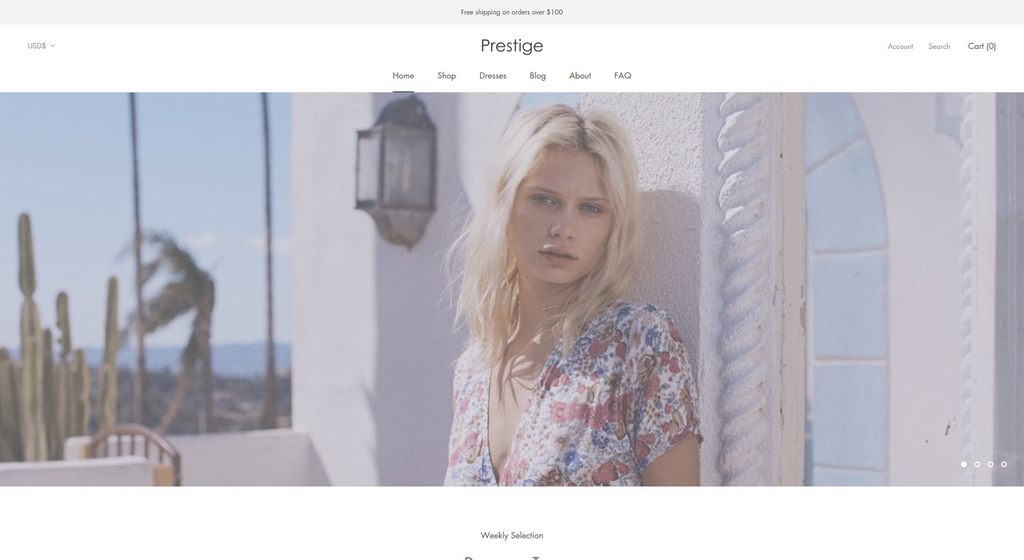 The Couture Style of Shopify Prestige theme