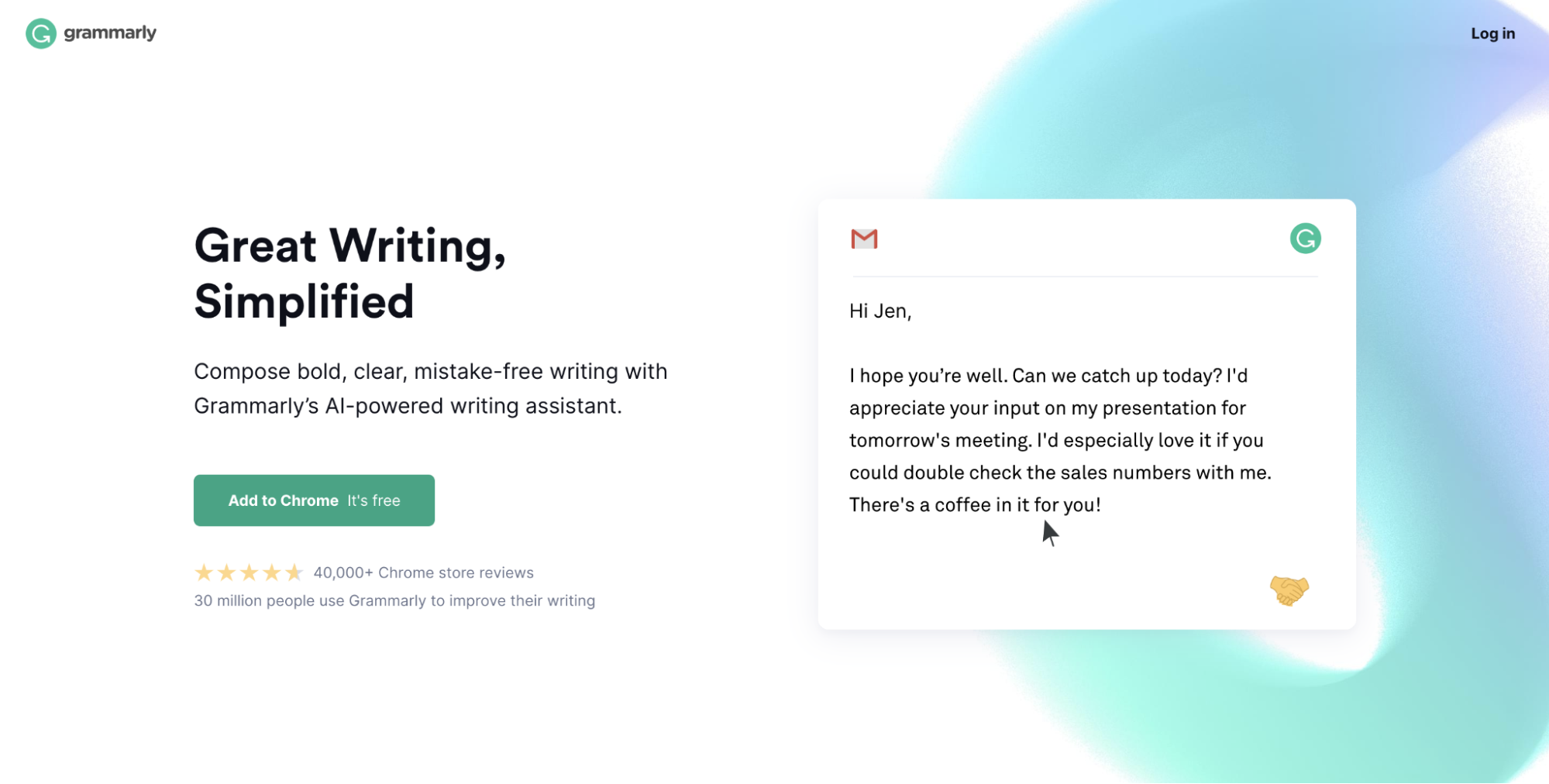 long form landing page