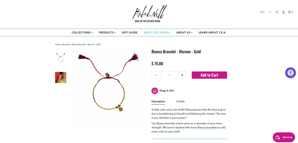 Rebel Nell Product page