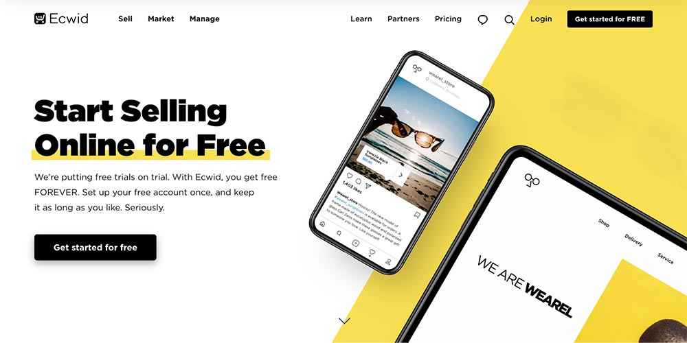 Ecwid - An E-commerce widget for blog and website.