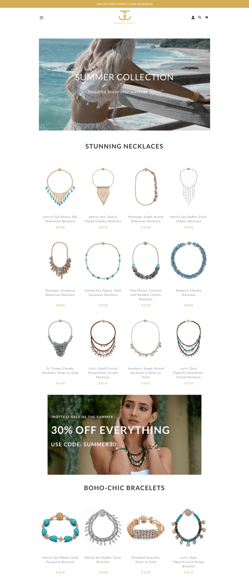 jewelstojet collection page