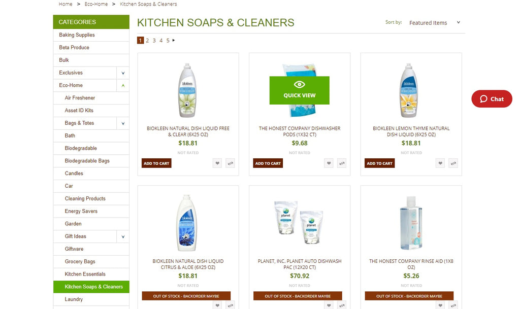 Kitchen friendly products