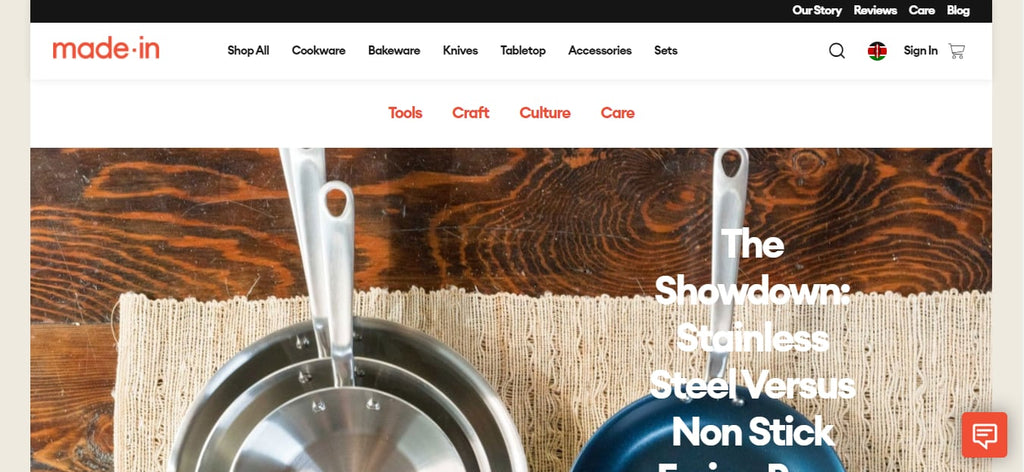 Made in Cookware's Blog Design