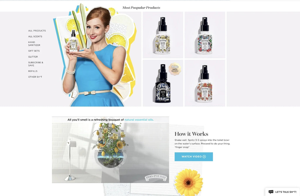Shopify Landing Page from PooPourri