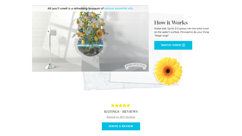 Product Page Design Poopouri
